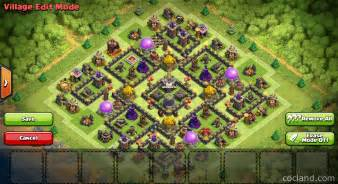 Lives marvelous th9 de protection base layout clash of clans land