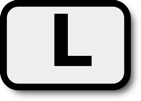 black l letter l clipart black and white clipartxtras