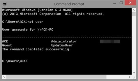 windows reset password with cmd net user command for administrators in windows 10 8 7