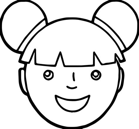 exciting picture gallery of girl face coloring pages