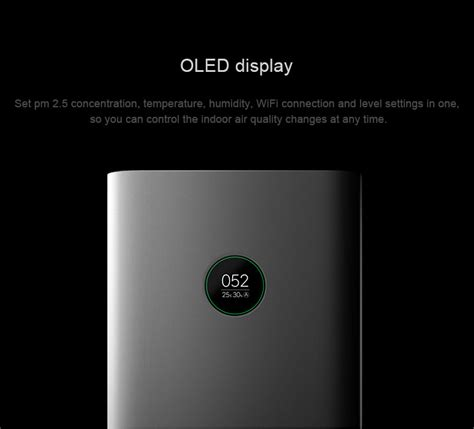 original xiaomi mi air purifier pro app control light