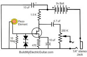 op this guitar piezo op buffer lacks any sort of bass why electrical engineering