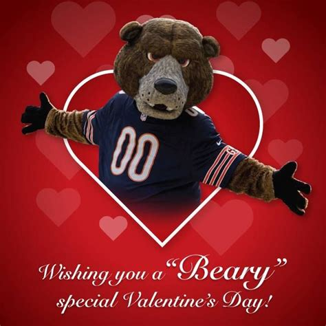 chicago valentines day ideas chicago bears s day card s day
