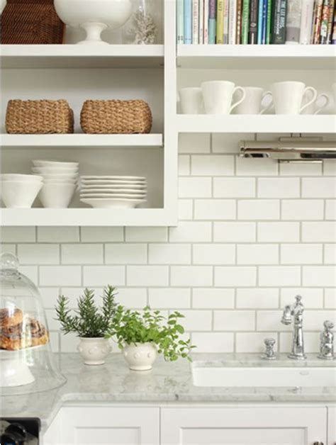 white tile kitchen white subway tile