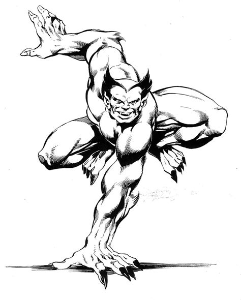 marvel beast coloring pages beast by john byrne marvel x men pinterest