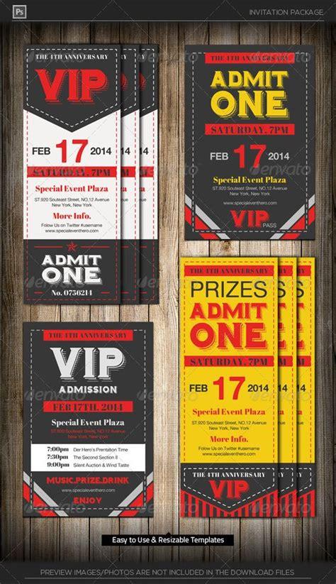 ticket invitation templates admit one vip ticket invitation template ticket