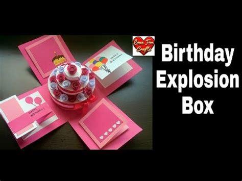 explosion box birthday cake tutorial diy birthday explosion box tutorial how to make cake