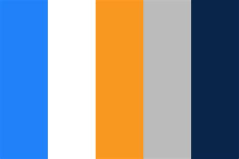 orange and blue color scheme blue orange color palette