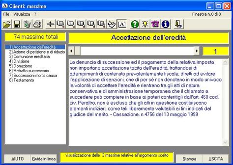 eredita software per elaborare le quote di una