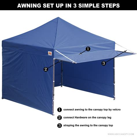10 x 10 awning 10x10 abccanopy easy pop up canopy tent instant shelter
