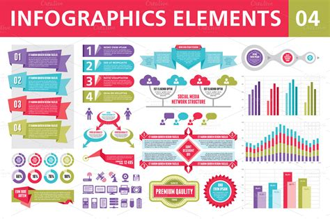 infographics elements 04 presentation templates on