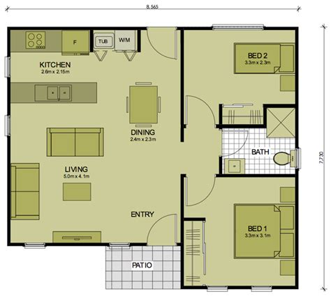 floor plans for 2 bedroom granny flats 2 bedroom barton sydney granny flats