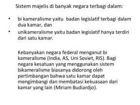 Parlemen Bikameral sistem parlemen