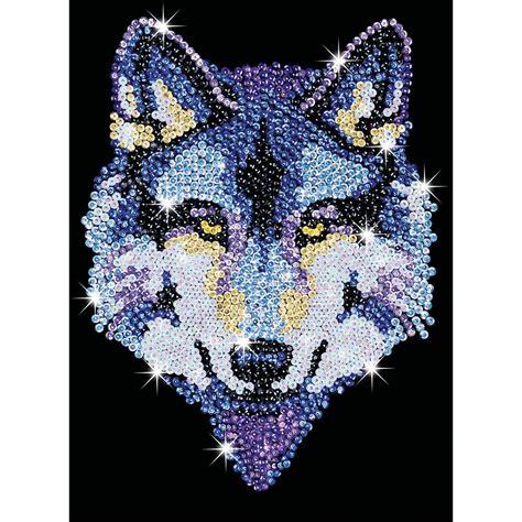 Ksg Sequin Art Wolf   Hobbycraft