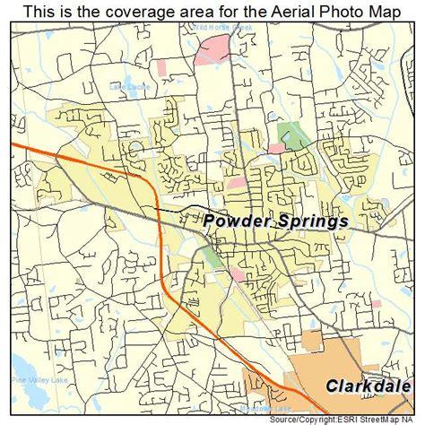 aerial photography map of powder springs ga