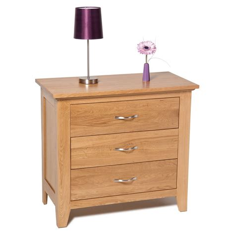 3 Drawer Chest Of Drawers Furniture Hallowood Furniture Camberley 3 Drawer Chest Of Drawers