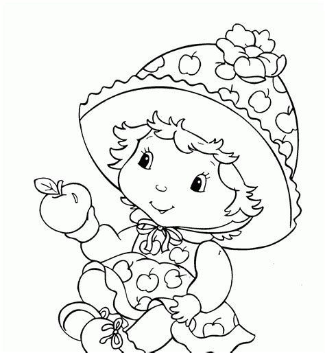 strawberry shortcake coloring page baby strawberry shortcake coloring pages sketch coloring page