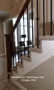 iron railing on carpet handrail along with