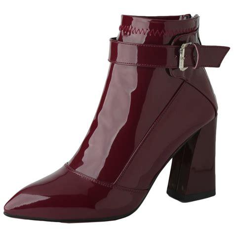 ankle booties high heel pointed toe high block heels ankle bootie oasap