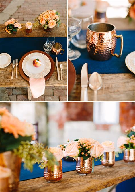 copper decorations copper and wedding ideas