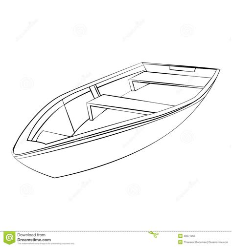 boat outline picture boat stock vector image 48571067