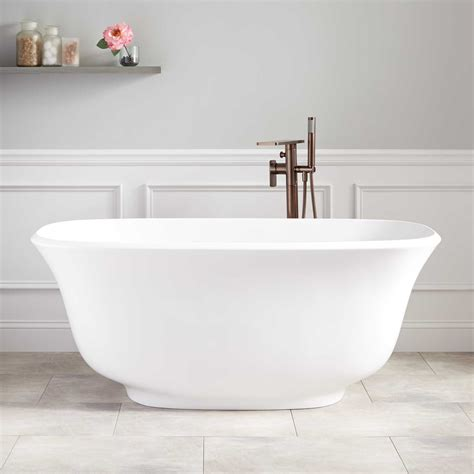 how to get bathtub white lindsey acrylic freestanding tub bathroom