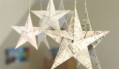 easy origami step by step christmas decorations folding 5 pointed origami ornaments