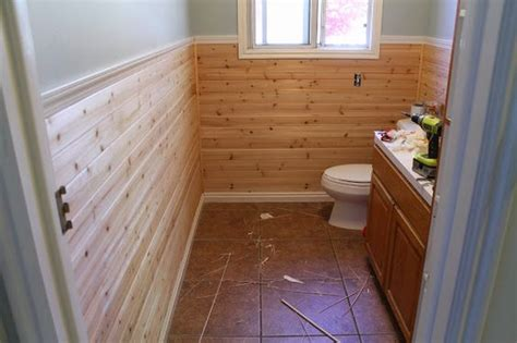 Lowes Shiplap Planks Planking The Bathroom Part 1 Planked Walls Light Gray