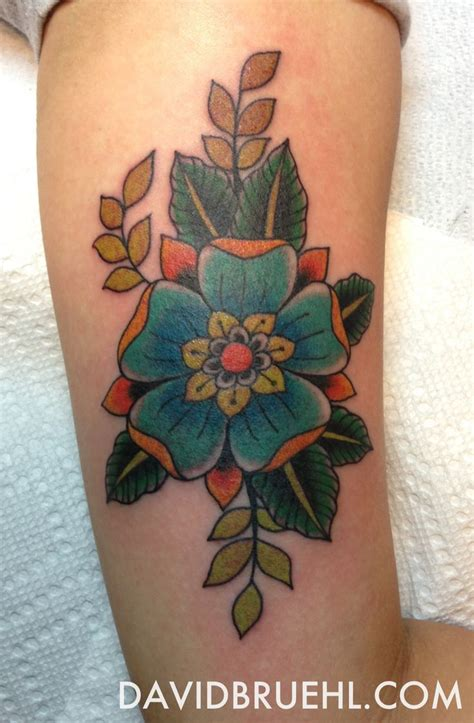 tudor rose tattoo tudor flower on inner arm by david bruehl