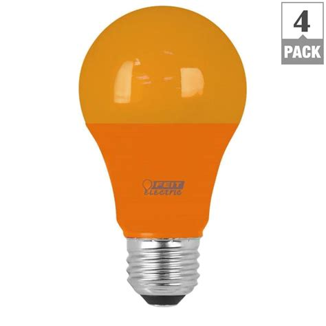 feit electric light bulbs feit electric 40w equivalent orange colored a19 led light