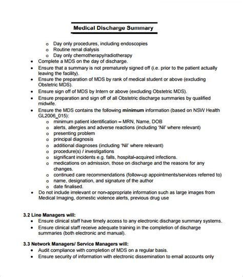 discharge summary template mental health discharge summary template 7 free documents in