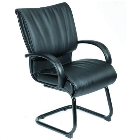 Modern Office Guest Chairs by Modern Leatherplus Chair With Cantilever Base B9709