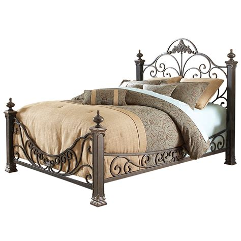 Bed Frame Iron Wrought Iron Beds Style Strength Comfort Rustic Pine Bed Loversiq