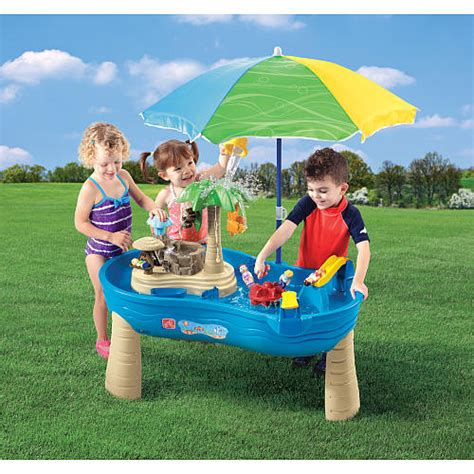 Step 2 Water Table With Umbrella by Step 2 Tropical Island Resort Water Table With Umbrella