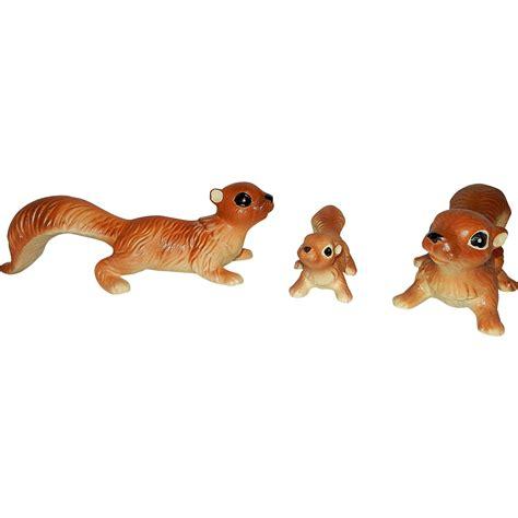 vintage figurines made in japan vintage made in japan ceramic artmark brown squirrel