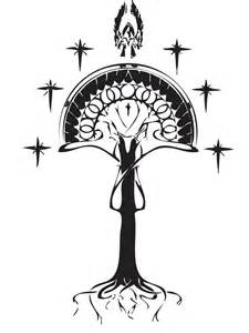 white tree of gondor tattoo ideas pinterest