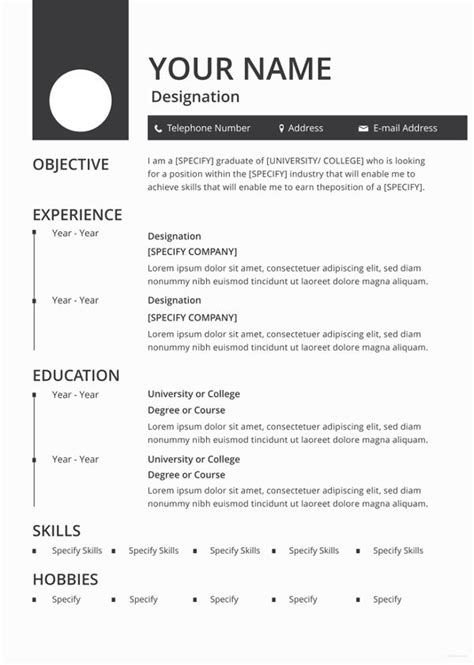 does apple pages resume templates 46 blank resume templates doc pdf free premium templates