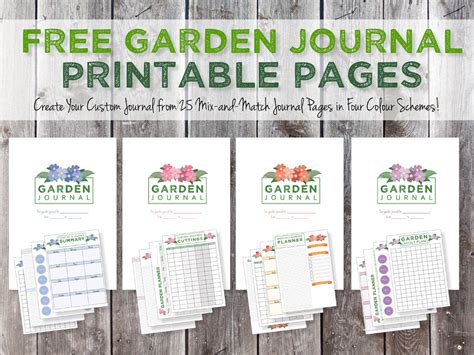 printable seed journal green in real life garden journaling and planning free