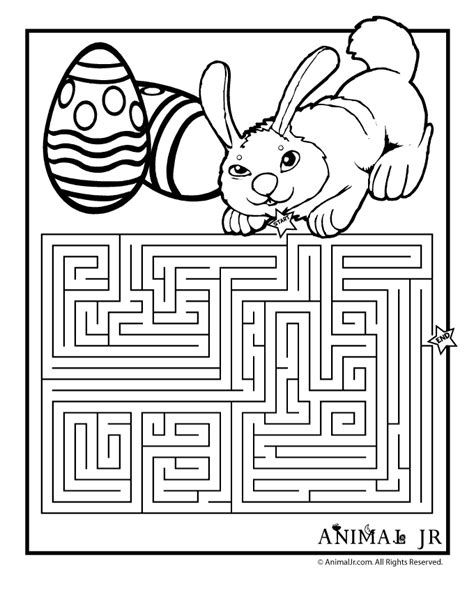 printable spring maze easter coloring page maze jsg easter crafts
