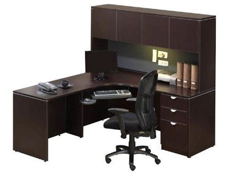 Corner Desk With Hutch Jha150 By Office Source 895 00 Office Desk With Locking Drawers