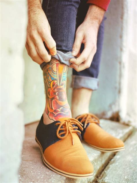 mens ankle tattoos 72 adorable ankle tattoos designs mens craze