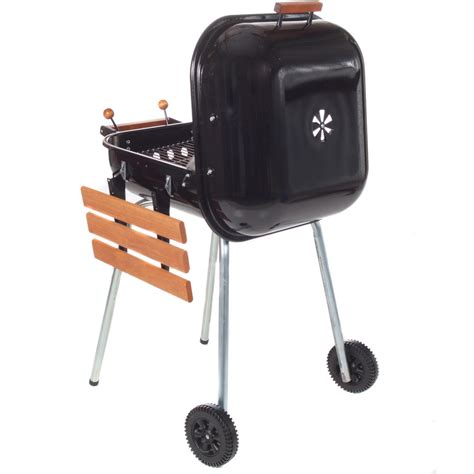 meco charcoal bbq grill with fold down right side table
