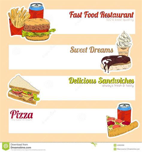 fast food menu banner stock vector image 43956399