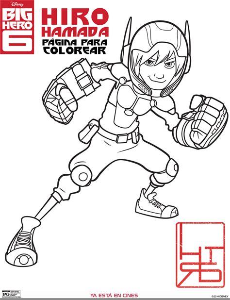 dibujos para colorear grandes actividades gratis para ni 241 os de big hero 6 o 6 grandes h 233 roes