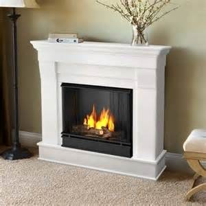 real 5910 w fireplace indoor gel fuel chateau white