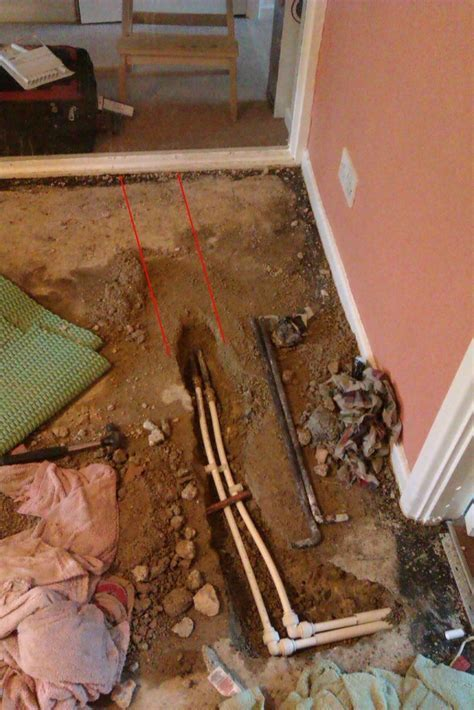 Insulate copper pipe under concrete   Plumbing job in