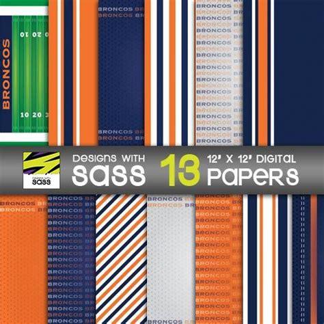 pattern maker denver digital paper denver football sports blue orange