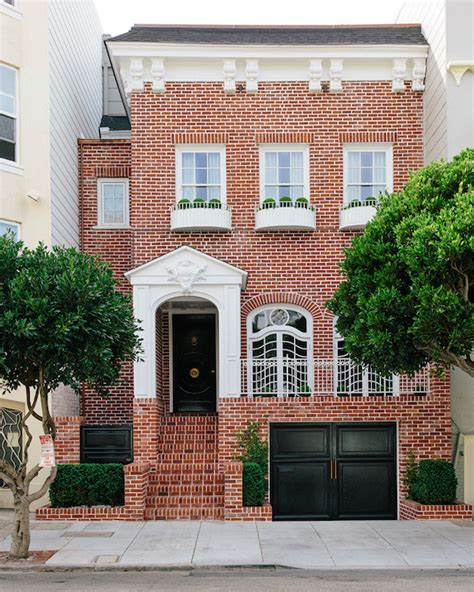 Garage Doors In San Francisco Drive House Traditional Home Exterior Lonny Magazine
