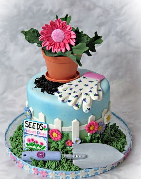 Flower Garden Cake Garden Cakes On Vegetable Garden Cake