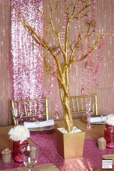 trend alert rustic glam pink amp gold wedding soiree